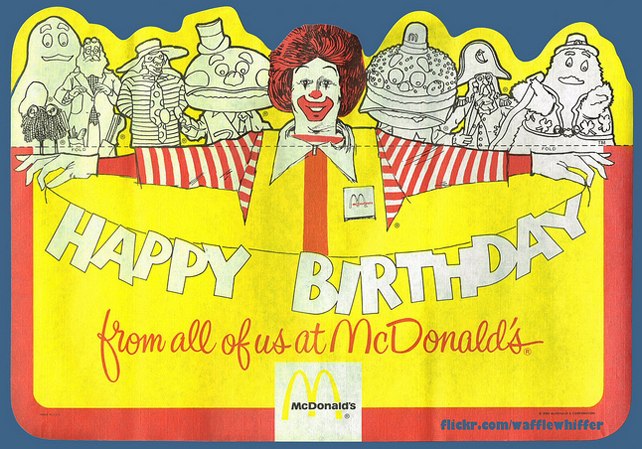 80s birthday party mcdonalds 1 by lawless